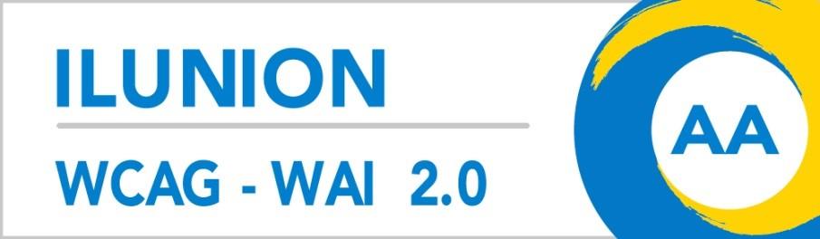 ILUNION ACCESIBILIDAD, ESTUDIOS Y PROYECTOS Certificación WCAG-WAI AA (abre en nueva ventana)