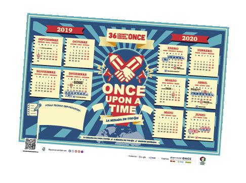 Imagen del calendario descargable del 36 Concurso Escolar ONCE